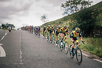 Team Lotto NL-Jumbo at the front<br /> <br /> Racing in/around Lake District National Parc / Cumbria<br /> <br /> Stage 6: Barrow-in-Furness to Whinlatter Pass   (168km)<br /> 15th Ovo Energy Tour of Britain 2018