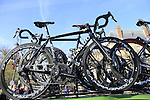 Team Europcar Colnago bikes on the team car at sign on before the start of the 113th edition of the Paris-Roubaix 2015 cycle race held over the cobbled roads of Northern France. 12th April 2015.<br /> Photo: Eoin Clarke www.newsfile.ie