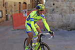 Roman Kreuziger (CZE) Tinkoff Saxo makes his way to sign on before the start of the 2015 Strade Bianche Eroica Pro cycle race 200km over the white gravel roads from San Gimignano to Siena, Tuscany, Italy. 7th March 2015<br /> Photo: Eoin Clarke www.newsfile.ie