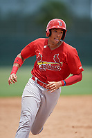 GCL Cardinals first baseman Dariel Gomez (34) runs the bases during a game against the GCL Mets on July 23, 2017 at Roger Dean Stadium Complex in Jupiter, Florida.  GCL Cardinals defeated the GCL Mets 5-3.  (Mike Janes/Four Seam Images)