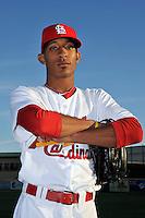 Mar 01, 2010; Jupiter, FL, USA; St. Louis Cardinals  pitcher Sam Freeman (90) during  photoday at Roger Dean Stadium. Mandatory Credit: Tomasso De Rosa/ Four Seam Images