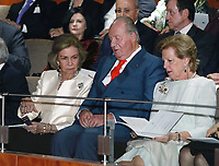 02-11-2018 Spain Queen Sofia, with King Juan Carlos and Queen Anne-Marie, attend a concert celebrating her 80th birthday at the Reina Sofia School of Music in Madrid<br /> <br /> .<br /> .