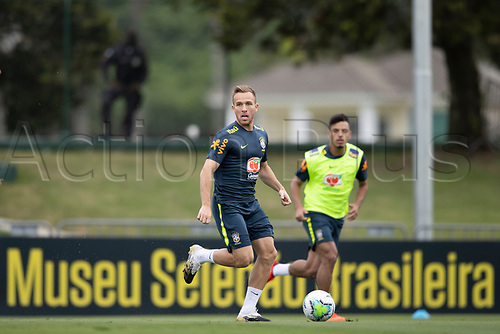 12th November 2020; Granja Comary, Teresopolis, Rio de Janeiro, Brazil; Qatar 2022 World Cup qualifiers; Arthur of Brazil during training session