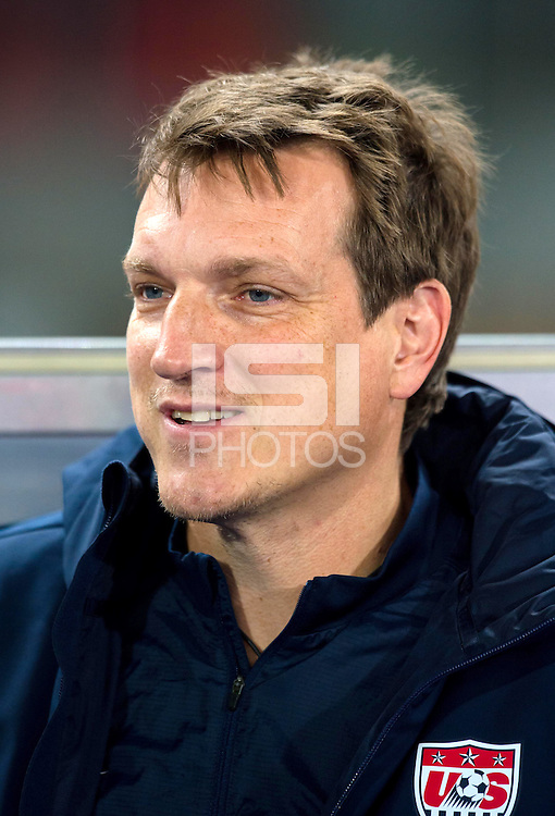 VIENNA, Austria - November 19, 2013: Andreas Herzog during a 0-1 loss to host Austria during the international friendly match between Austria and the USA at Ernst-Happel-Stadium.