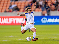 HOUSTON, TX - JANUARY 31: Raquel Rodriguez #11 of Costa Rica takes a shot for a goal during a game between Haiti and Costa Rica at BBVA Stadium on January 31, 2020 in Houston, Texas.