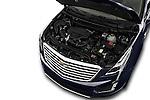 Car Stock 2018 Cadillac XT5 AWD-Platinum 5 Door SUV Engine  high angle detail view