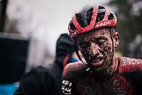 Anton Ferdinande's (BEL/Pauwels Sauzen-Bingoal) muddy post race face<br /> <br /> Men's Race at the X2O Herentals Cross 2020 (BEL)<br /> <br /> ©kramon