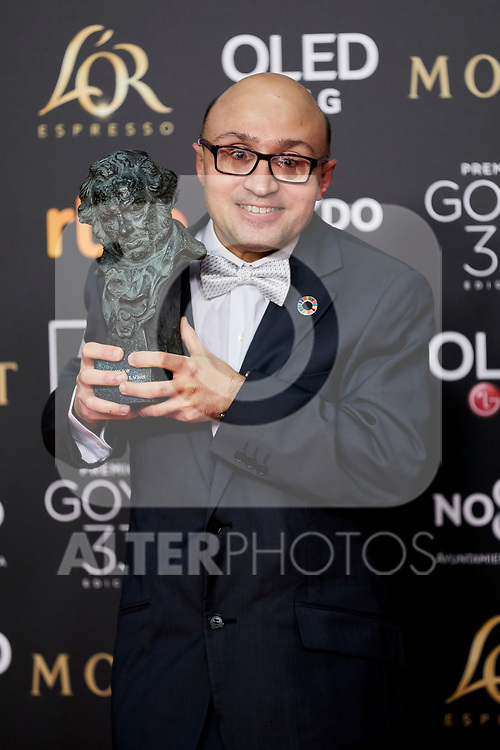 Jesus Vidal (best new actor award for the film 'Campeones') attends to 33rd Goya Awards at Fibes - Conference and Exhibition  in Seville, Spain. February 02, 2019. (ALTERPHOTOS/A. Perez Meca)