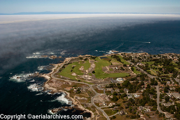 aerial photograph of Pacific Grove Golf Links, Pacific Grove, Monterey County, California