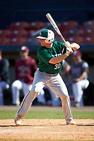 Farmingdale Rams catcher Joseph Roche (30) at bat during a game against the Union Dutchmen on February 21, 2016 at Chain of Lakes Stadium in Winter Haven, Florida.  Farmingdale defeated Union 17-5.  (Mike Janes/Four Seam Images)