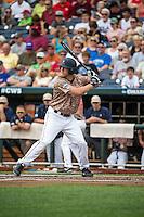 Joe McCarthy (31) of the Virginia Cavaliers bats during a game between the Virginia Cavaliers and Arkansas Razorbacks at TD Ameritrade Park on June 13, 2015 in Omaha, Nebraska. (Brace Hemmelgarn/Four Seam Images)