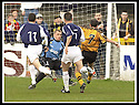 29/03/2003                   Copright Pic : James Stewart.File Name : stewart-alloa v falkirk 11.ROSS HAMILTON (7) SCORES ALLOA'S GOAL.....James Stewart Photo Agency, 19 Carronlea Drive, Falkirk. FK2 8DN      Vat Reg No. 607 6932 25.Office     : +44 (0)1324 570906     .Mobile  : +44 (0)7721 416997.Fax         :  +44 (0)1324 570906.E-mail  :  jim@jspa.co.uk.If you require further information then contact Jim Stewart on any of the numbers above.........