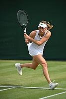 2nd July 2021; Wimbledon, SW London. England; Wimbledon Tennis Championships, day 5;  Elise Mertens , Belgium