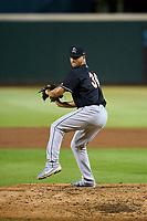 Jupiter Hammerheads pitcher Josan Mendez (36) during a game against the Bradenton Marauders on June 26, 2021 at LECOM Park in Bradenton, Florida.  (Mike Janes/Four Seam Images)