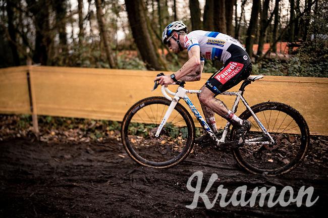 European CX Champion Eli Iserbyt (BEL/Pauwels Sauzen-Bingoal)<br /> <br /> Jaarmarktcross Niel (BEL) 2020<br />  <br /> ©kramon
