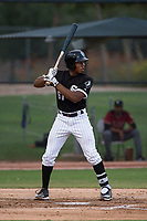 AZL White Sox third baseman Bryce Bush (61) at bat during an Arizona League game against the AZL Diamondbacks at Camelback Ranch on July 12, 2018 in Glendale, Arizona. The AZL Diamondbacks defeated the AZL White Sox 5-1. (Zachary Lucy/Four Seam Images)