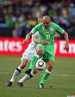 Rafik Djebbour of Algeria. USA defeated Algeria 1-0 in stoppage time in the 2010 FIFA World Cup at Loftus Versfeld Stadium in Pretoria, Sourth Africa, on June 23th, 2010.