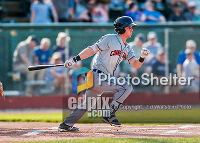 20 August 2017: Connecticut Tigers outfielder Luke Burch, a 9th round draft pick for the Detroit Tigers, in action against the Vermont Lake Monsters at Centennial Field in Burlington, Vermont. The Lake Monsters rallied to edge out the Tigers 6-5 in 13 innings of NY Penn League action.  Mandatory Credit: Ed Wolfstein Photo *** RAW (NEF) Image File Available ***