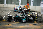 Adam Carroll of Panasonic Jaguar Racing during the first race of the FIA Formula E Championship 2016-17 season HKT Hong Kong ePrix at the Central Harbourfront Circuit on 9 October 2016, in Hong Kong, China. Photo by Victor Fraile / Power Sport Images