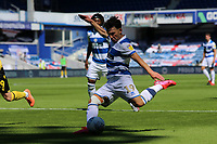 Ilias Chair of Queens Park Rangers shot goes wide during Queens Park Rangers vs Millwall, Sky Bet EFL Championship Football at Loftus Road Stadium on 18th July 2020