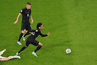 Leroy Sane (Deutschland Germany)<br /> - Muenchen 23.06.2021: Deutschland vs. Ungarn, Allianz Arena Muenchen, Euro2020, emonline, emspor, <br /> <br /> Foto: Marc Schueler/Sportpics.de<br /> Nur für journalistische Zwecke. Only for editorial use. (DFL/DFB REGULATIONS PROHIBIT ANY USE OF PHOTOGRAPHS as IMAGE SEQUENCES and/or QUASI-VIDEO)