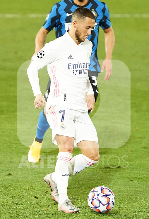 Real Madrid's Eden Hazard during UEFA Champions League match. November 3,2020.(ALTERPHOTOS/Acero)
