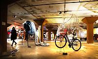Nederland  Eindhoven 2017 . DDW. Dutch Design Week. Strijp-S. Expositie in het Veemgebouw. Overdekte fiets.    Foto Berlinda van Dam / Hollandse Hoogte