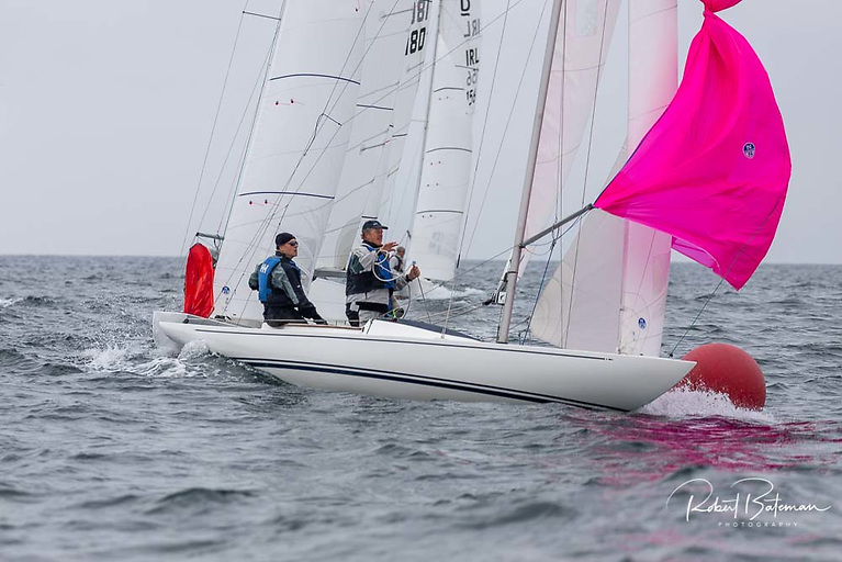 Dublin Bay's Neil Hegarty sailing with Peter Bowring and David Williams have move into the lead at the Dragon Nationals
