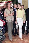 25.05.2012. Prince Felipe of Spain and Princess Letizia attend the inauguration of the Book Fair 2012 at the Retiro in Madrid. In the image Elena de Borbon and  Letizia Ortiz  (Alterphotos/Marta Gonzalez)