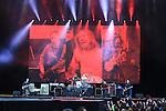 Foo Fighter on stage at Slane Castle.<br /> Pictures Fran Caffrey | www.newsfile.ie