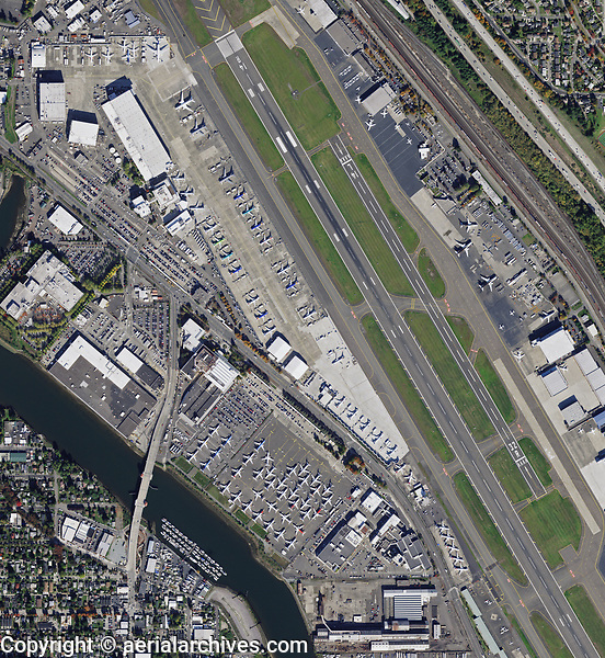 aerial map of Boeing Flight Test and Operations, Boeing Field, King County International Airport, (BFI) King County, Washington