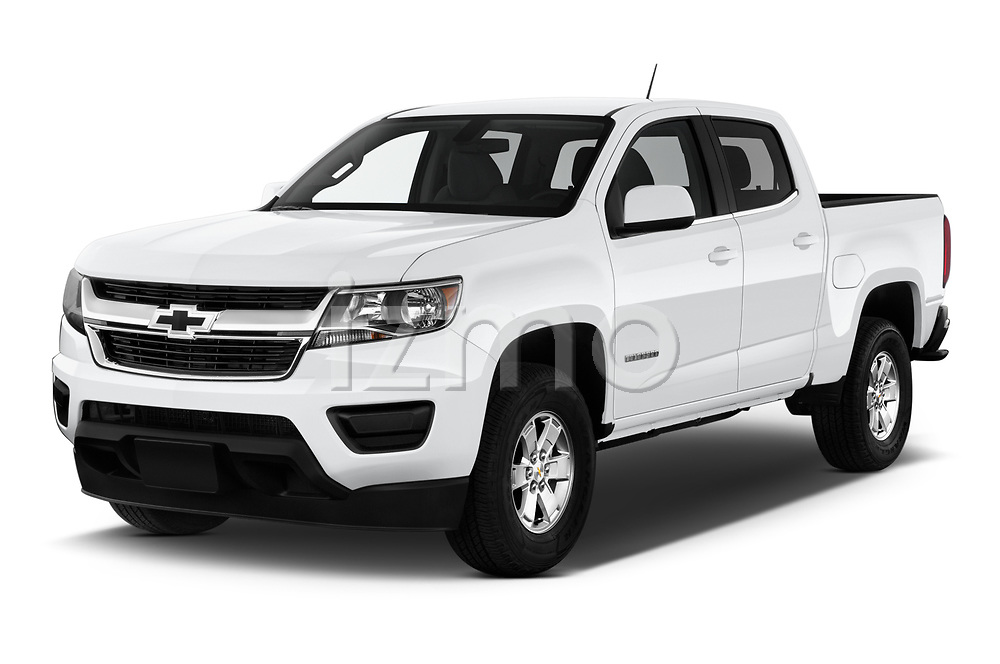 2019 Chevrolet Colorado WT 4 Door Pick-up Angular Front automotive stock photos of front three quarter view