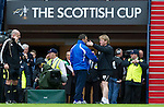 Motherwell v St Johnstone.....16.04.11  Scottish Cup Semi-Final.Stuart McCall and Derek McInnes at full time.Picture by Graeme Hart..Copyright Perthshire Picture Agency.Tel: 01738 623350  Mobile: 07990 594431