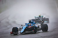29th August 2021; Spa Francorchamps, Stavelot, Belgium: FIA F1 Grand Prix of Belgium,  race day: 14 ALONSO Fernando (spa), Alpine F1 A521 during the formation laps in heavy rain before cancellation of the race due to standing water