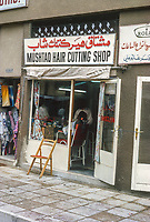 Abu Dhabi, UAE. Barber Shop in the Main Souk. Photographed March 1972.