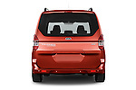 Straight rear view of a 2015 Ford Tourneo Courier Titanium 5 Door Minimpv Rear View  stock images