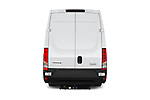 Straight rear view of 2021 Iveco Daily - 4 Door Cargo Van Rear View  stock images