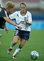 23 August 2004:   Kristine Lilly in action against Germany during the semifinal game at Pankritio Stadium in Heraklio, Greece.     USA defeated Germany, 2-1 in overtime.   Credit: Michael Pimentel / ISI