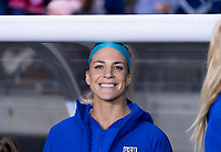 HOUSTON, TX - JANUARY 31: Julie Ertz #8 of the United States poses on the bench during a game between Panama and USWNT at BBVA Stadium on January 31, 2020 in Houston, Texas.