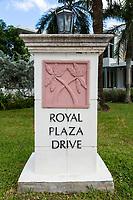 Ft. Lauderdale, Florida.  Crossed Palm Trees.  Street Emblem along East Las Olas Boulevard.
