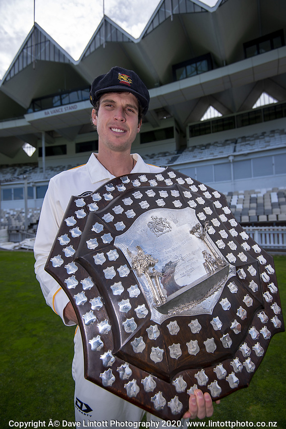 Andrew Fletcher. The Wellington Firebirds celebrate winning the 2019-2020 Plunket Shield at Basin Reserve in Wellington, New Zealand on Thursday, 19 March 2020. Photo: Dave Lintott / lintottphoto.co.nz