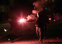 Riots between people and police in the Exarhia district of Athens, on the 43rd anniversary of the Polytechnic Uprising which marked the end of the dictatorship in Greece. Thursday 17 November 2016