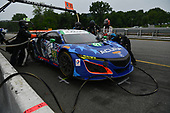IMSA WeatherTech SportsCar Championship<br /> Northeast Grand Prix<br /> Lime Rock Park, Lakeville, CT USA<br /> Saturday 22 July 2017<br /> 93, Acura, Acura NSX, GTD, Andy Lally, Katherine Legge pit stop<br /> World Copyright: Richard Dole<br /> LAT Images