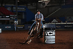 Alycia Morgan during the second round of barrel qualifiers at the WCRA Stampede at the E. Photo by Andy Watson