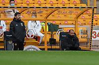 Wolverhampton Wanderers Assistant Head Coach Rui Pedro Silva (left) and head coach Nuno Espírito Santo (right) <br /> <br /> Photographer David Horton/CameraSport<br /> <br /> The Premier League - Wolverhampton Wanderers v Fulham - Sunday 4th October 2020 - Molineux Stadium - Wolverhampton<br /> <br /> World Copyright © 2020 CameraSport. All rights reserved. 43 Linden Ave. Countesthorpe. Leicester. England. LE8 5PG - Tel: +44 (0) 116 277 4147 - admin@camerasport.com - www.camerasport.com