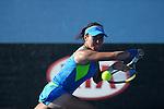 Jie Zheng (CHN) defeats Madison Keys (USA) 7-6, 1-6, 7-5 at the Australian Open in Melbourne, Australia on January 15, 2014