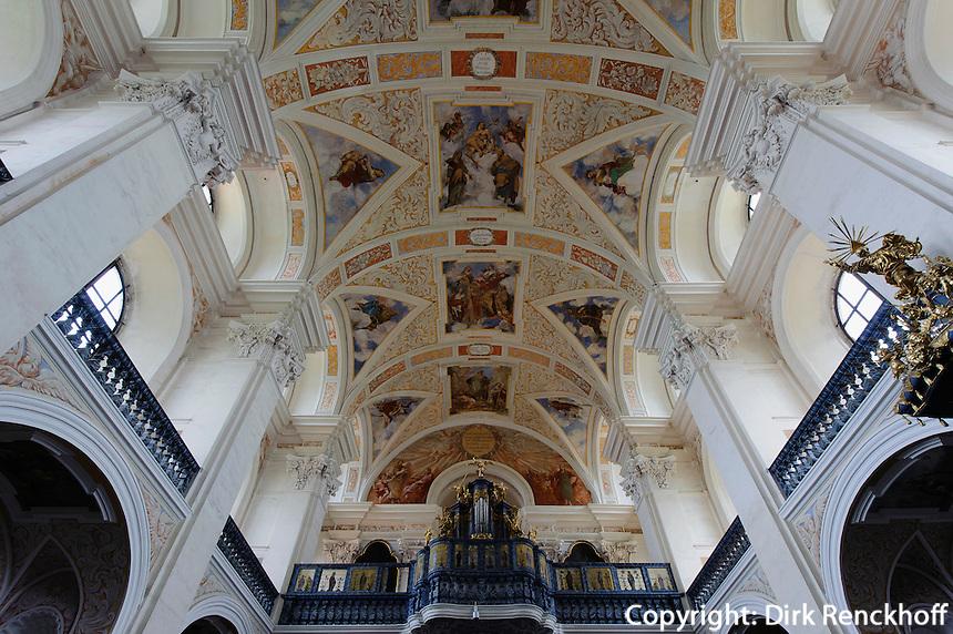 Barocke Josephskirche des Klosters in Kreszow (Grüssau), Woiwodschaft Niederschlesien (Województwo dolnośląskie), Polen, Europa<br /> Baroque church St. Joseph in Kreszow, Poland, Europe