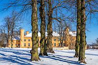 Schloss und Schlosspark Petzow, Petzow, Werder, Havelland, Potsdam-Mittelmark, Brandenburg, Deutschland