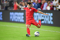 WASHINGTON, D.C. - OCTOBER 11: Paul Arriola #7 of the United States crosses over a ball during their Nations League game versus Cuba at Audi Field, on October 11, 2019 in Washington D.C.