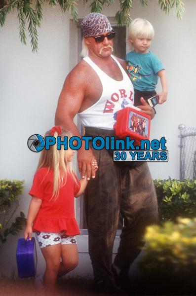 Hulk Hogan, kids, 1992, Photo By John Barrett/PHOTOlink